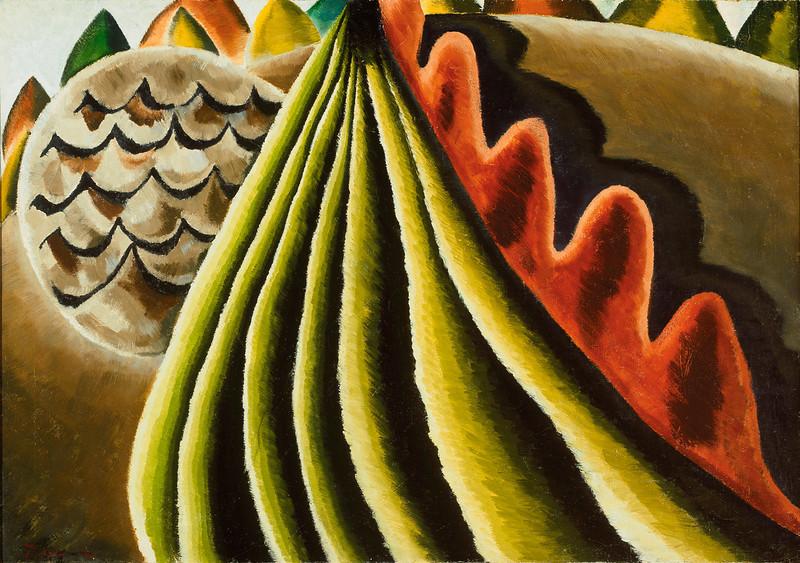 . Arthur Garfield Dove, Fields of Grain as Seen from Train, property of the Albright-Knox Art Gallery, Buffalo, NY.