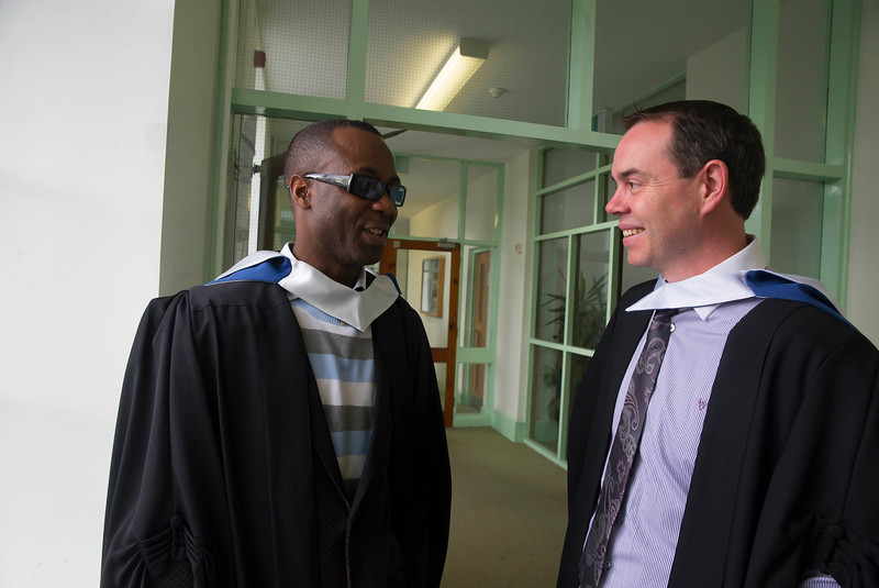 28/10/2015. Waterford Institute of Technology Conferring. Pictured are Michael McLoughlin, Dungarvan, Oludakpo Johnson, Waterford. Picture: Patrick Browne