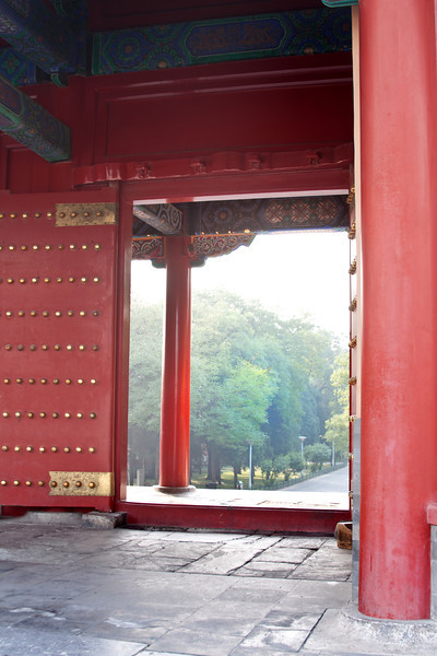 a gateway to a garden, China