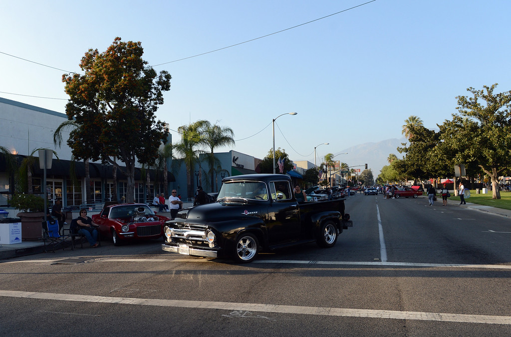 . Route 66 Cruisin\' Reunion on Euclid Ave in Ontario, CA Friday, September 20, 2013. (Jennifer Cappuccio Maher/Inland Valley Daily Bulletin)