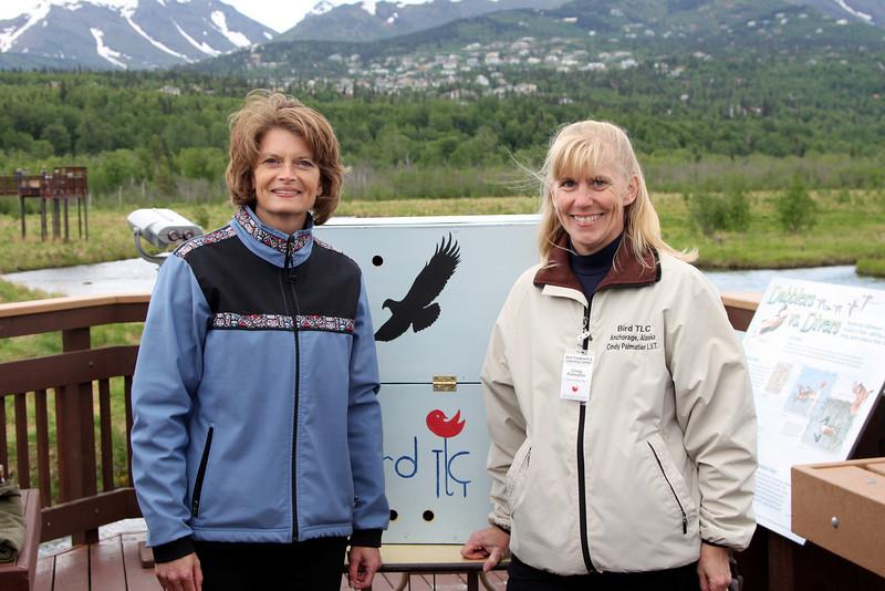 US Senator Lisa Murkowski & Cindy Palmatier, Bird Treatment and Learning Center, Director of Avian Care.