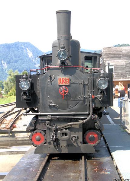 Steam locomotive U25 Bezau (built in 1902)  Schwarzenburg (Andelsbuch), Vorarlberg, Austria 08/18/2018 This work is licensed under a Creative Commons Attribution- NonCommercial 4.0 International License.