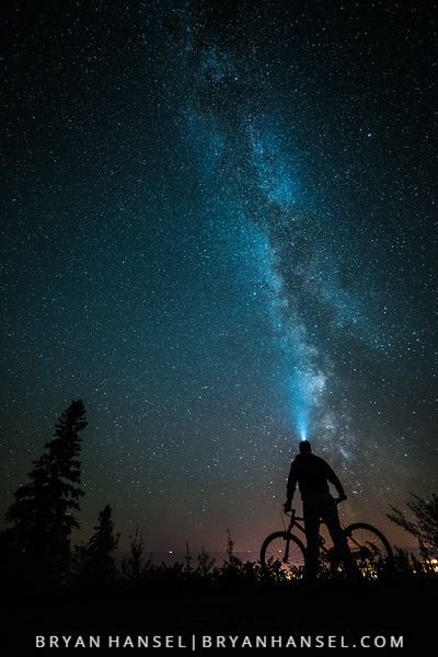 Biking and the Milky Way