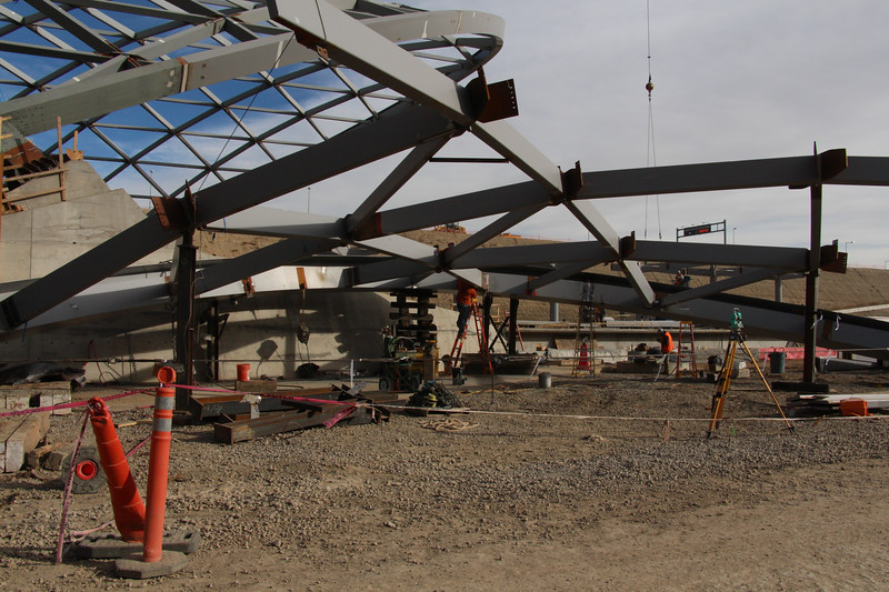 DIA Hotel and Transit Center Construction - Nov 2013