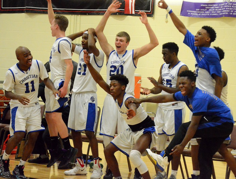 Southfield Christian defeated Parkway Christian in the Class D regional final on Wednesday night at Cardinal Mooney, 87-46. (Digital First Media photo gallery by Drew Ellis)