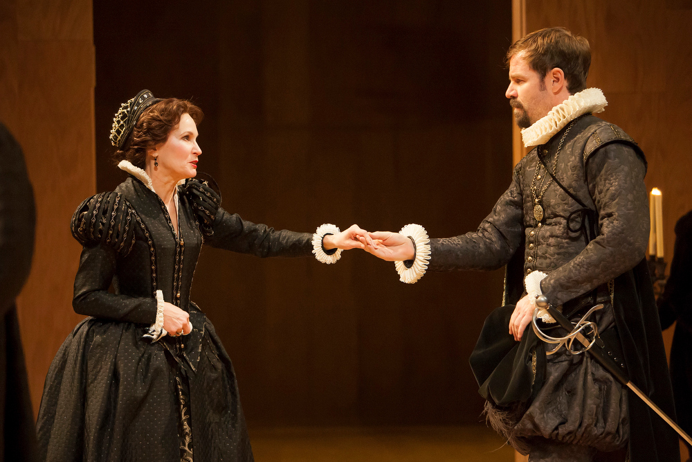 """. Kathleen McCall as Lady Capulet and Geoffrey Kent as Paris in Denver Center\'s \""""Romeo & Juliet.\"""" Photo by Jennifer Koskinen, Provided by Denver Center Theatre Company."""