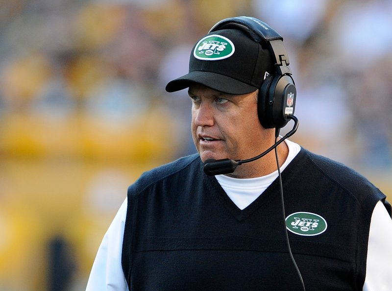 . <p><b> Jets at Ravens (-3½):</b> <p>The Jets got blown out by Buffalo just hours after their Saturday night revelry at a Dave and Buster�s arcade restaurant. Coach Rex Ryan came up with the idea for that team outing because he has the mind of a 12-year-old. <p>Pick: <b>Ravens by 7</b> <p>    (Joe Sargent/Getty Images)