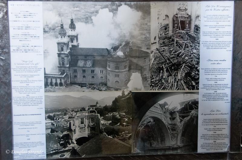 Photos of war damage to Salzburg church