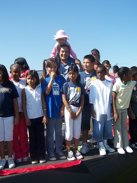 Children with Robert Garcia