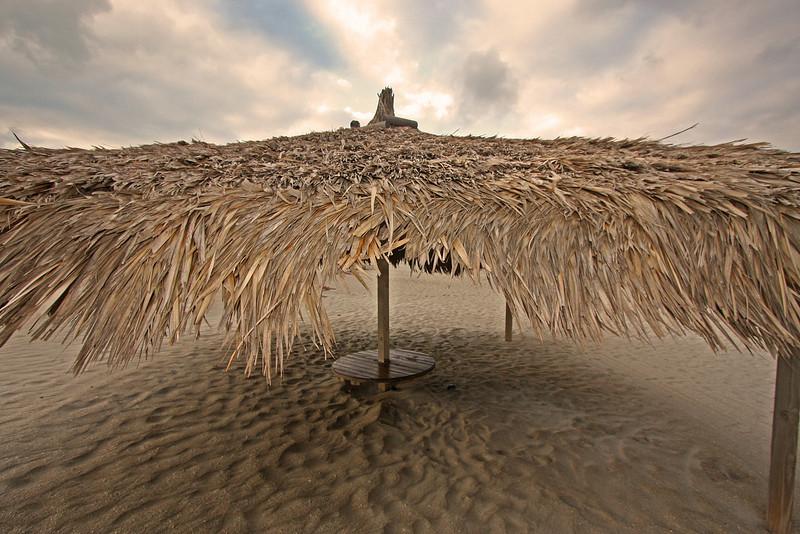 Storm clouds over the tiki hut, Lido Key
