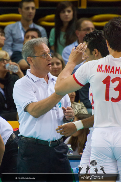 Julio Velasco [IRI] - Italia-Iran, World League 2013 - Modena
