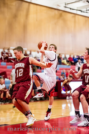 Basketball Soph SHS vs Cedar 12-20-13