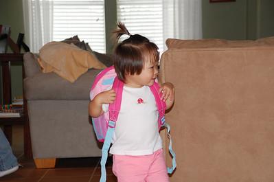 November 23, 2008 - Big Girl Bacpack
