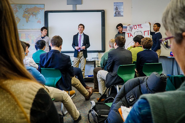 Eighth Graders Reenact Presidential Election