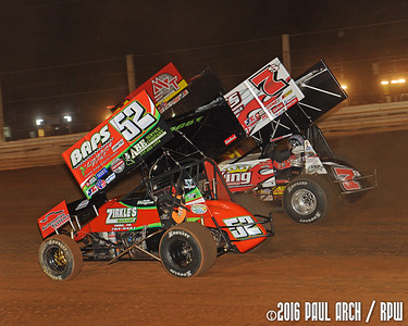 Lincoln Speedway - WoO Sprints - 5/19/16 - Paul Arch