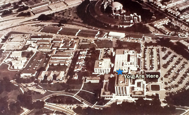 Before: Letterman Hospital and Palace of Fine Arts.
