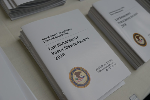 2018 U.S. Attorney's Law Enforcement Public Service Awards Ceremony - 05.17.2018