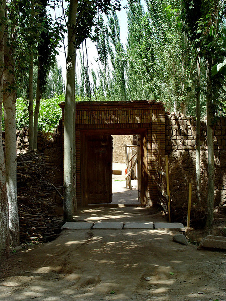Entrance to courtyard of village home near Kashgar DSC02001.jpg
