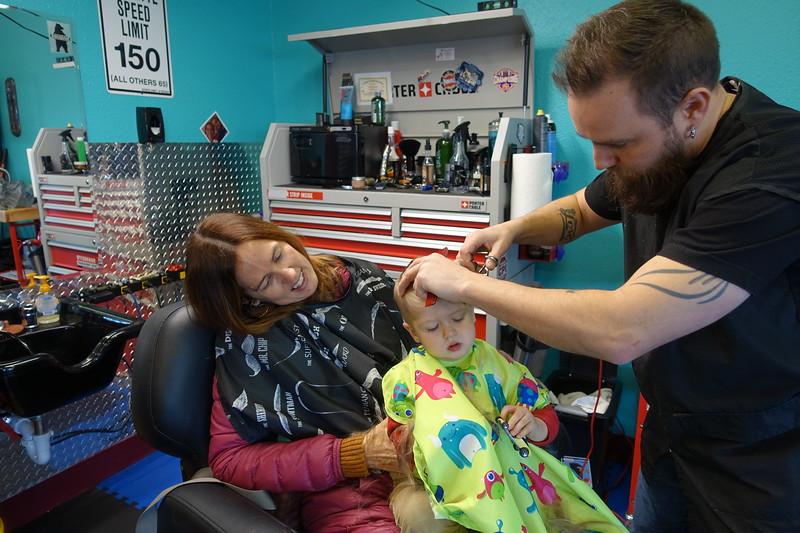 first Barber Shop haircut