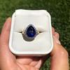 7.00ctw Tanzanite and Diamond Halo Ring 7