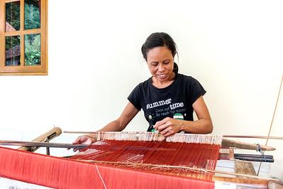 Songket Weaving - Sidemen, Bali - Indonesia