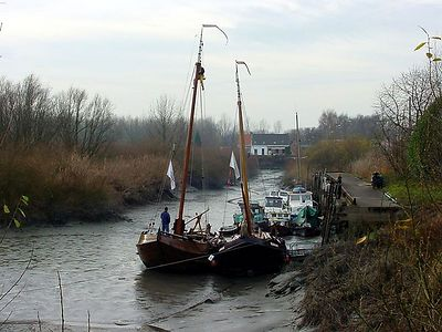 Two old sailing boats