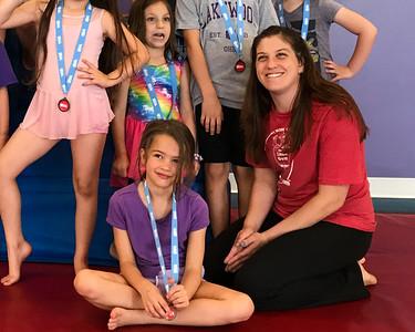 May 31, 2019. Rosie & Estelle showcase their Little Gym talents.