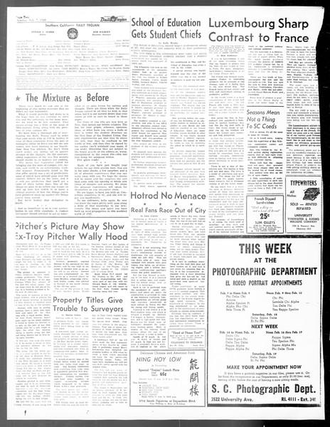 Daily Trojan, Vol. 40, No. 73, February 07, 1949