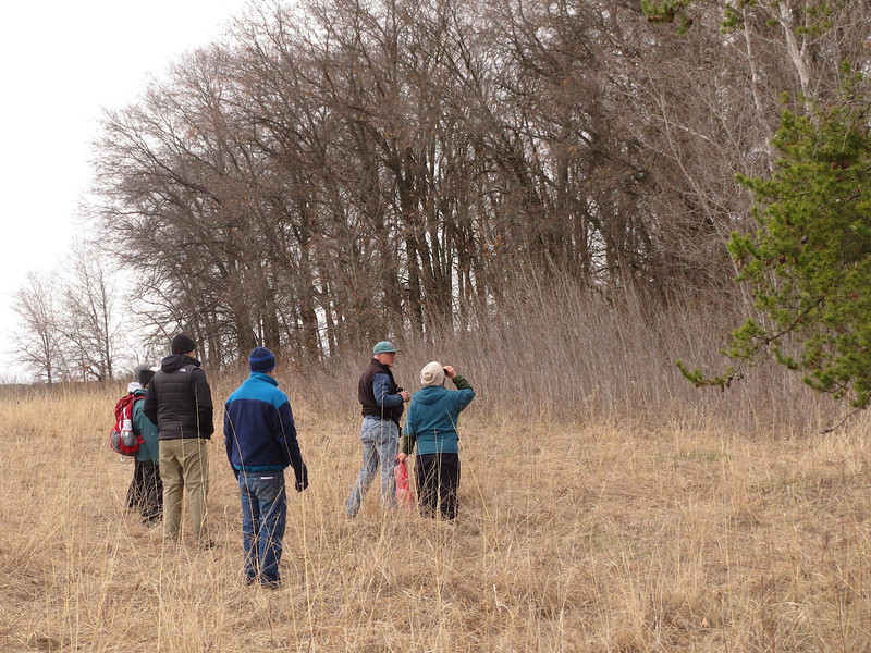 Michael Sweet leading us on a birding hike in Wild River State Park Minnesota.