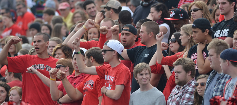 Students gather for the homecoming parade and football game for Gardner-Webb.