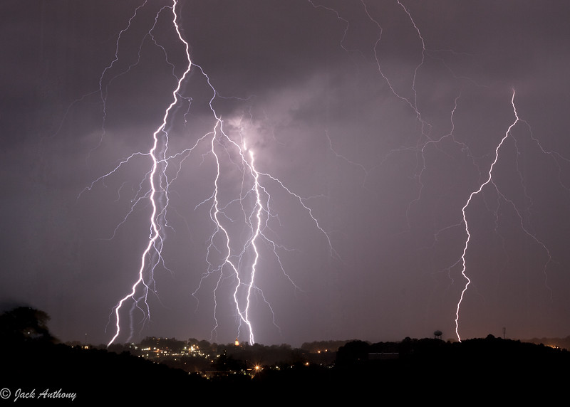 Lightning over Dahlonega, Ga.