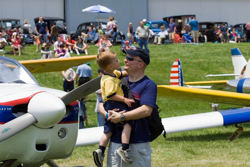 K.C. and Dad share some time at the air show on Father's Day.