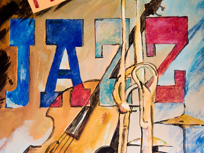 This is part of a mural on Heidi's Jazz Club.