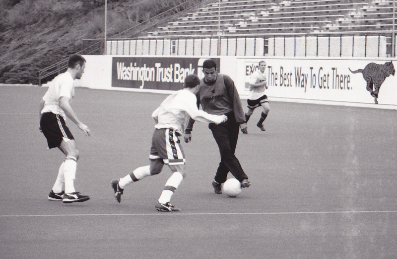 Tim Seely had some nice moves, taking on 1999 PDL co-Defender of the Year Joe Marks, who was quite the little bulldog (appropriate given he played at Gonzaga) that was the quick-footed man who shut down forwards.