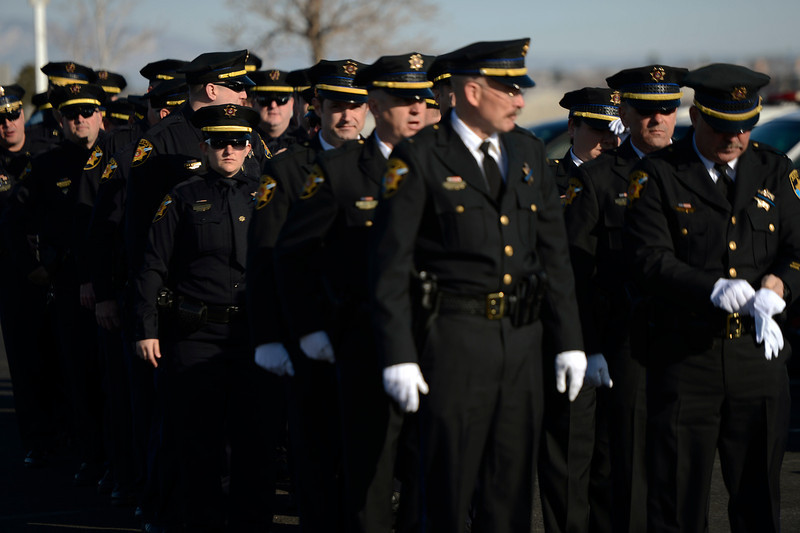 . The Douglas County Sheriff\'s form up to march in formation to the public memorial service for Tom Clements at the New Life Church in Colorado Springs. March 25, 2013 Colorado Springs, Colorado. (Photo By Joe Amon/The Denver Post)