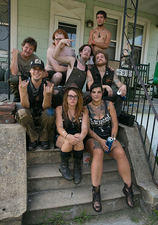 June 25, 2014 - Train Kids , Jimbo, Cray, Casey, Smiley, Knux, Roger, Cate, Lauren and Carl, Train Hobos in Baltimore