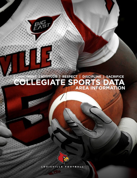 Louisville Football collegiate sports data cover.   Design and Photography by David Klotz