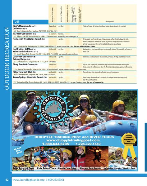 2012 Laurel Highlands Visitor's Bureau