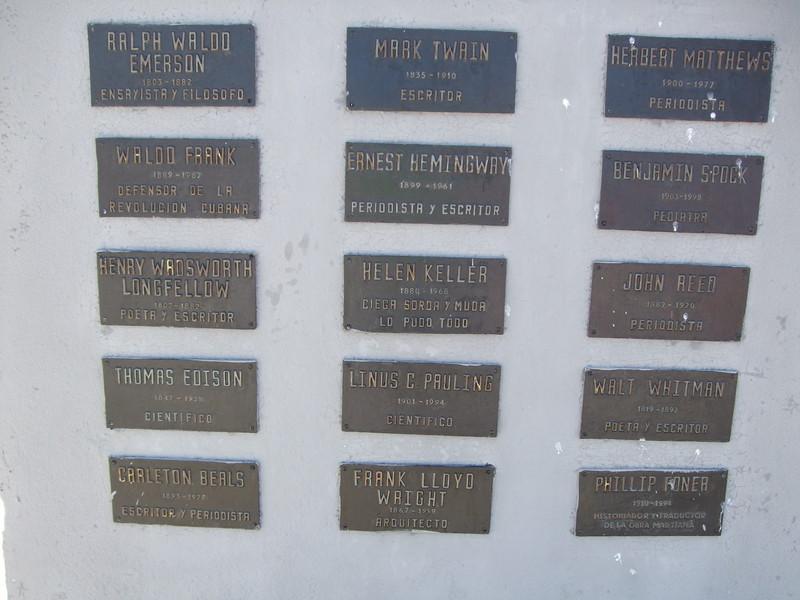 Plaques honoring U.S. intellectuals - Sandy Kirkpatrick