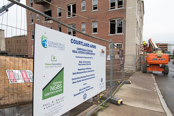 11/19/19 Wesley Bunnell | StaffrrCourtland Arms Apartments under construction on Court St on Monday November 18, 2019.