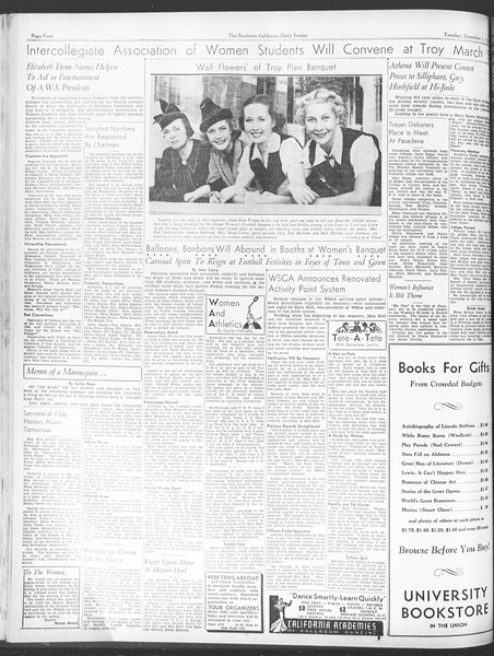 Daily Trojan, Vol. 28, No. 49, December 01, 1936
