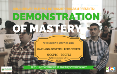 OUSD Summer Internships Demonstration of Mastery