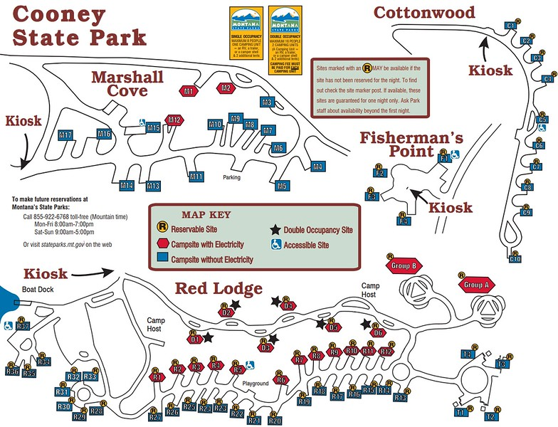 Cooney State Park (Campground Maps)