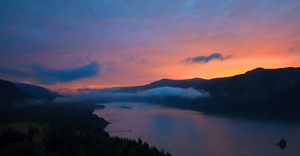 Sunrise in the Columbia River Gorge, shot from Cape Horn along SR14 in sw Washington.