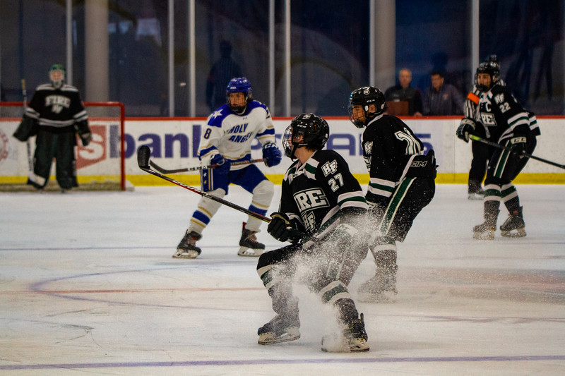 Holy Family Boys Varsity Hockey vs. Academy of Holy Angels, 12/21/19: Tyler Heise '22 (25)