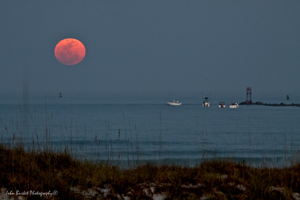 Ponce Inlet Super Moon Night Shot