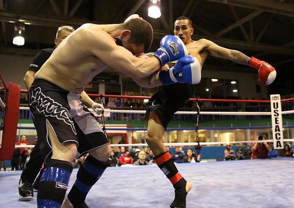 Adrian Morales (red) vs. Ryan Blake (blue)