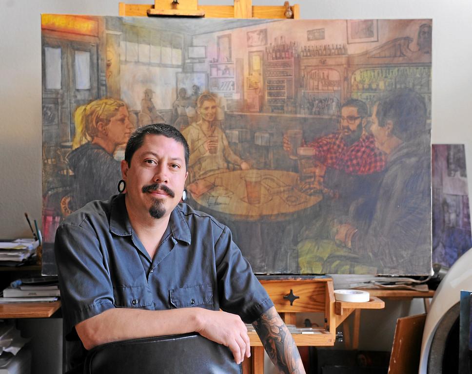 . San Pedro artist Sergio Sanchez in his home/studio in SP. Thurs. Sept. 26, 2013 Photo by Brad Graverson/The Daily Breeze