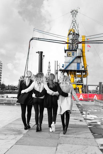 fotoshoot aan MAS Antwerpen
