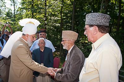 Hazrat Khalifatul-Masih V departure from Columbus
